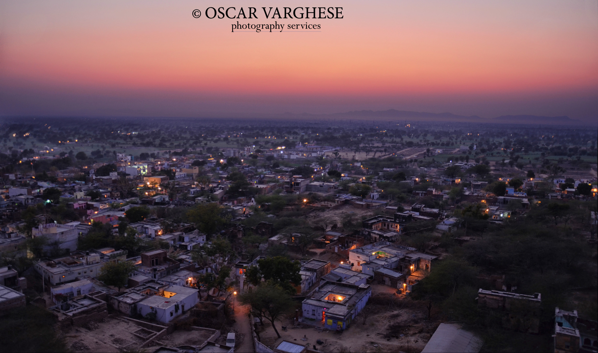 A Village in Rajasthan at Twilight