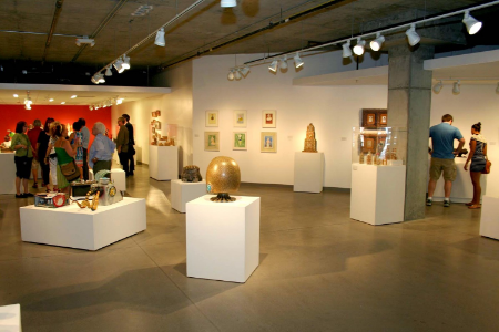 The exhibition space at the CRC Brickyard-photo by Melissa Budzak