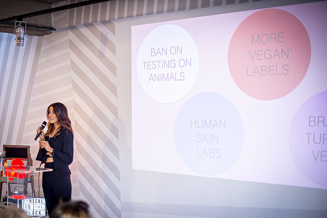 Make-up artist Em-J discusses vegan and cruelty-free make-up at Vevolution's lead-up event, 'Vevolution Topics: Ethical Fashion and Beauty'.
