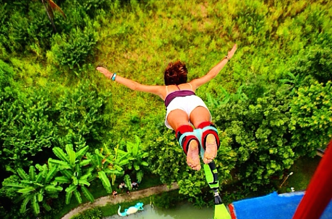 Bungee Jumping at Chiang Mai X-Center