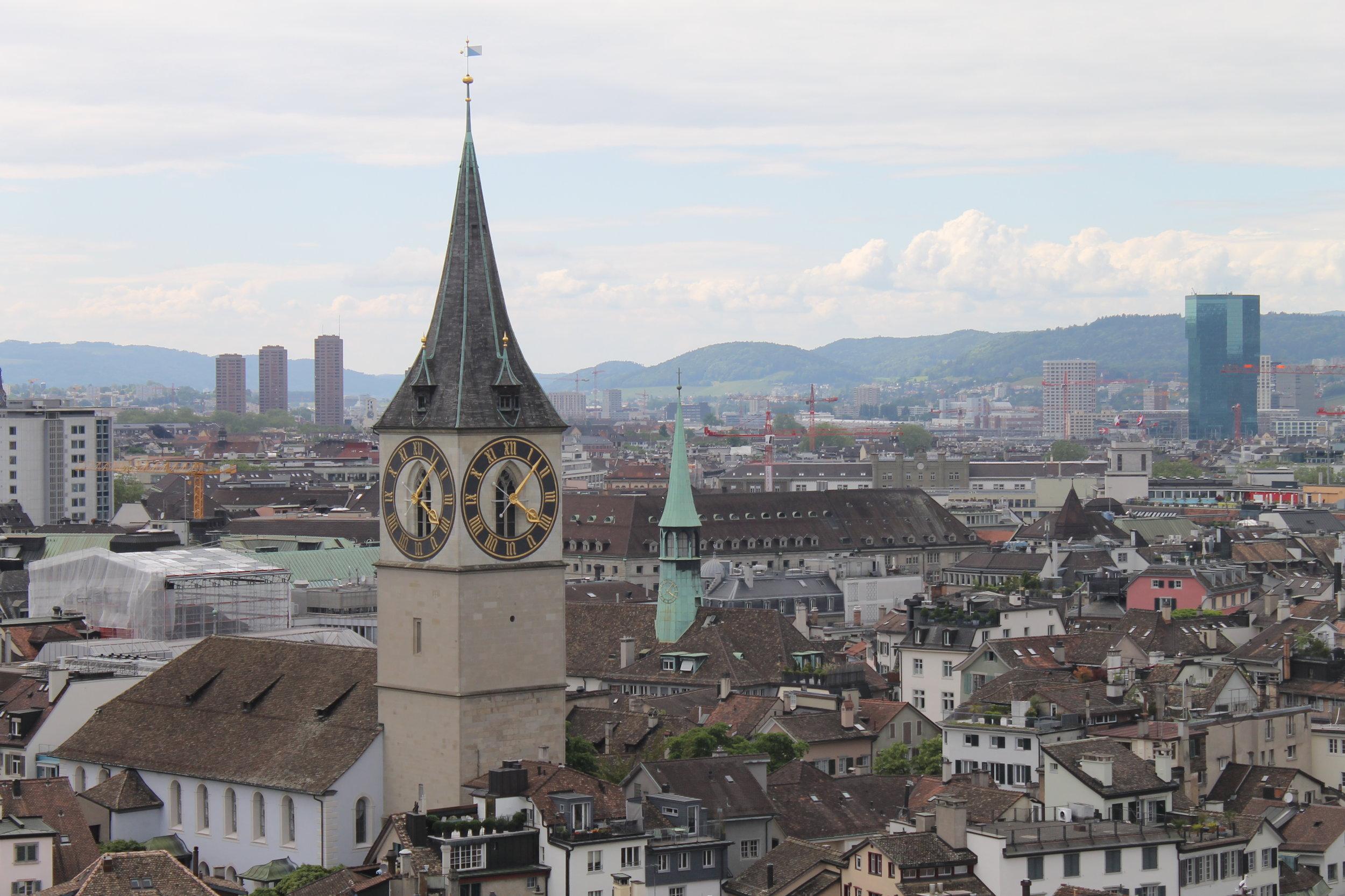 View from Grossmünster