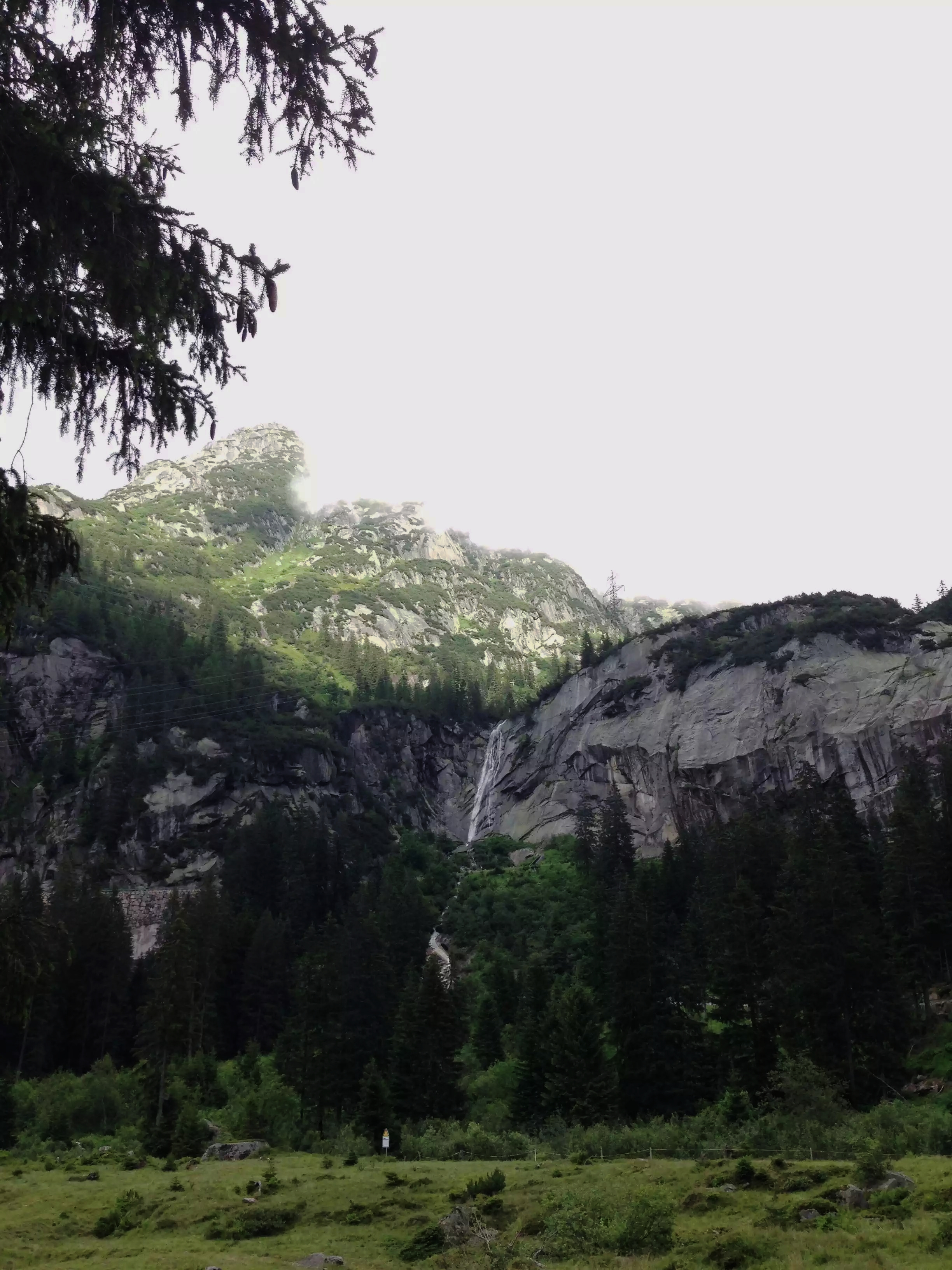 View from the base of a canyoning tour