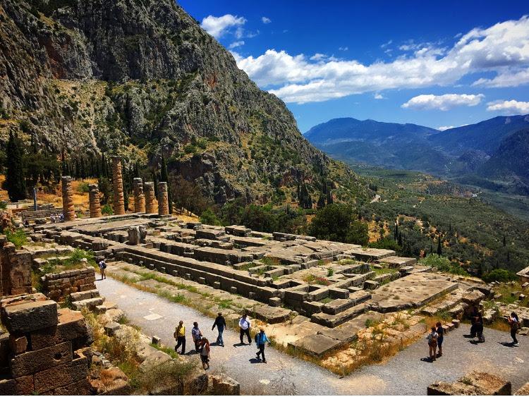 The ruins of Delphi