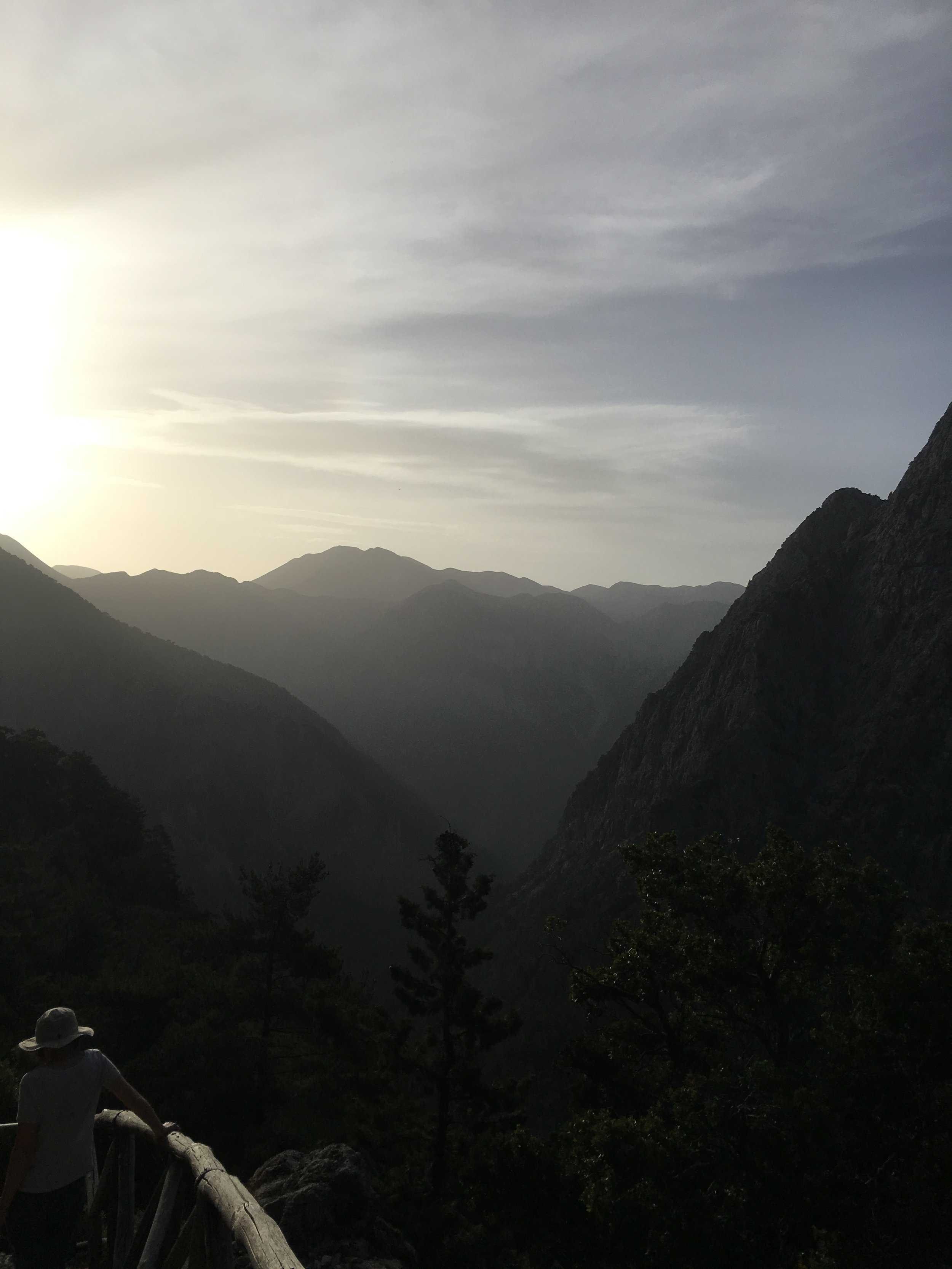 Sunrise over the Samaria Gorge