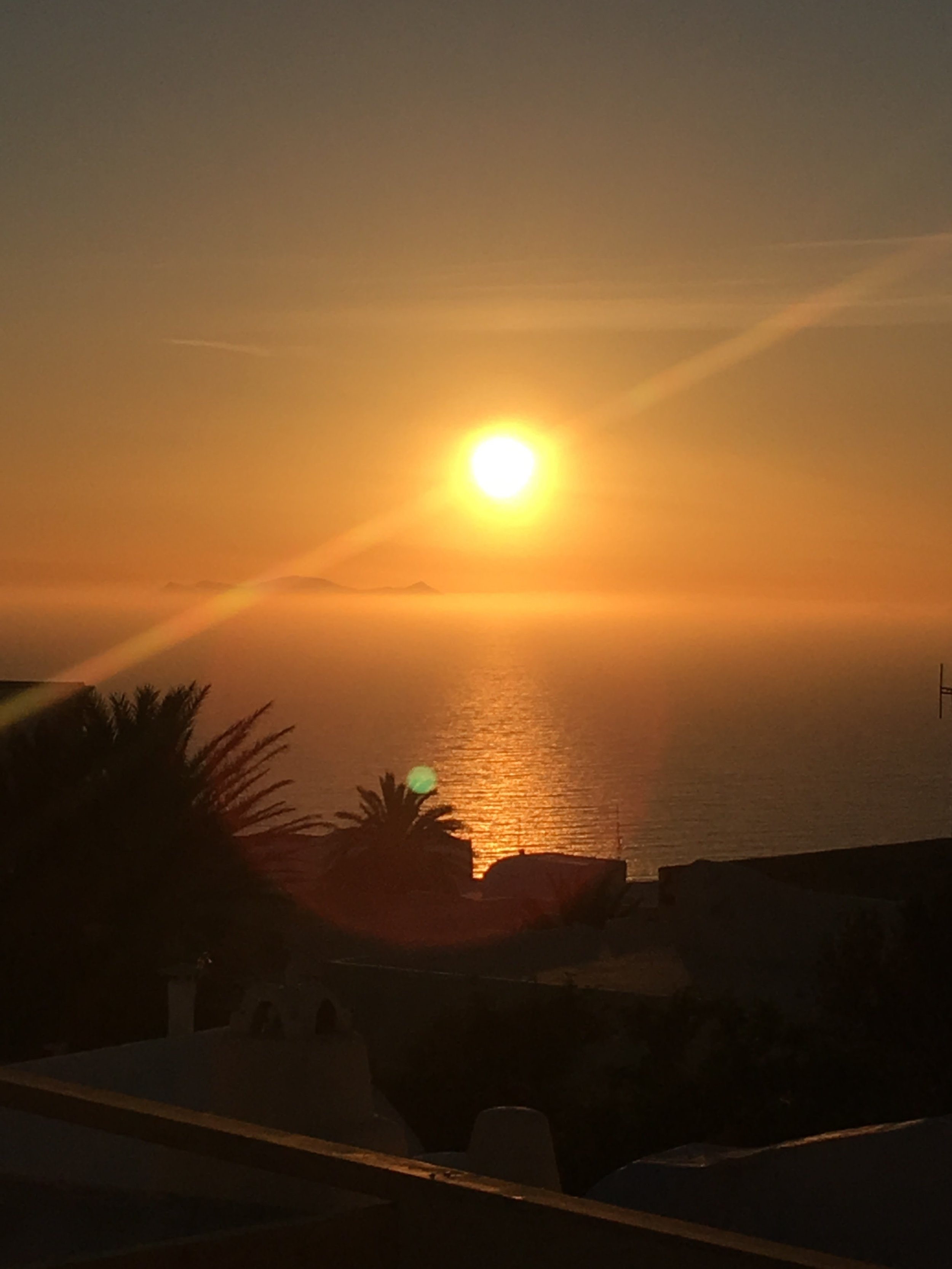 Sunset view from Oia