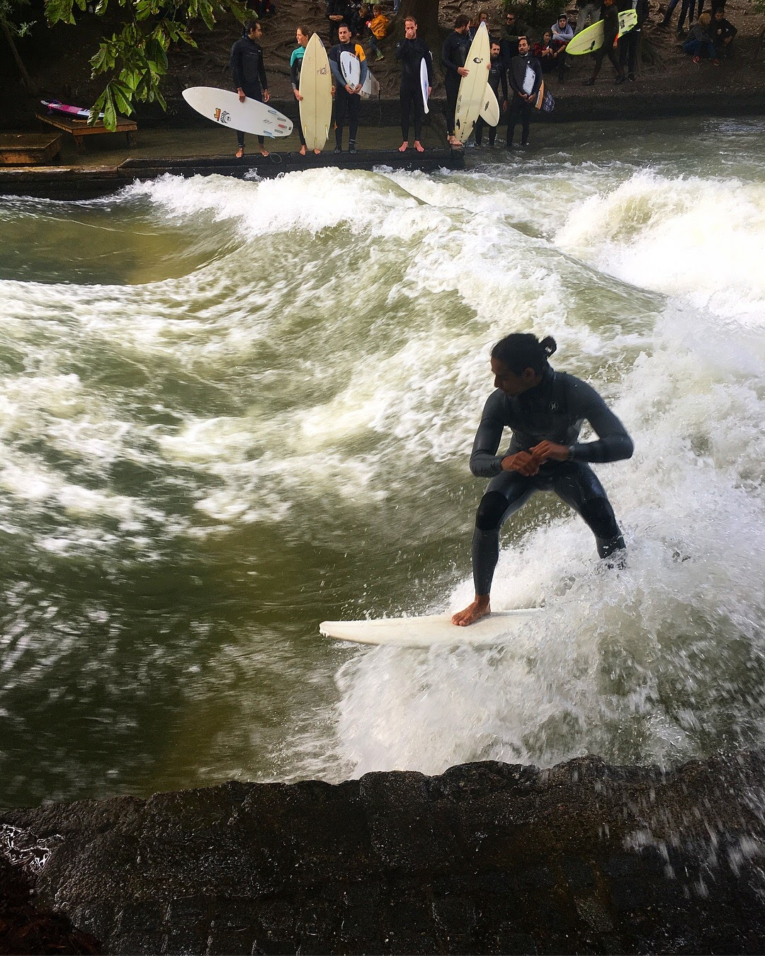 Surfing the Eisbach River