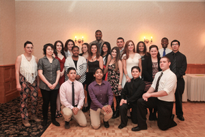 """Students celebrating their successes at the """"Oh the Place's You'll Go"""" Annual Gala and Silent Auction"""