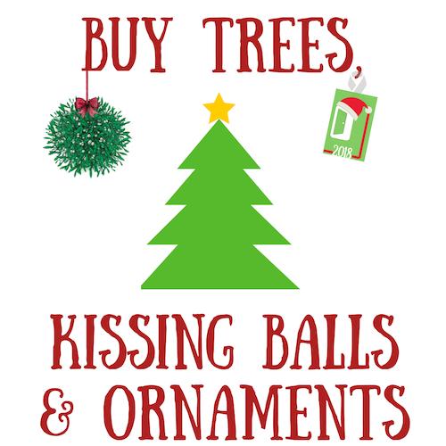 Buy Trees Kissing Balls and Ornaments