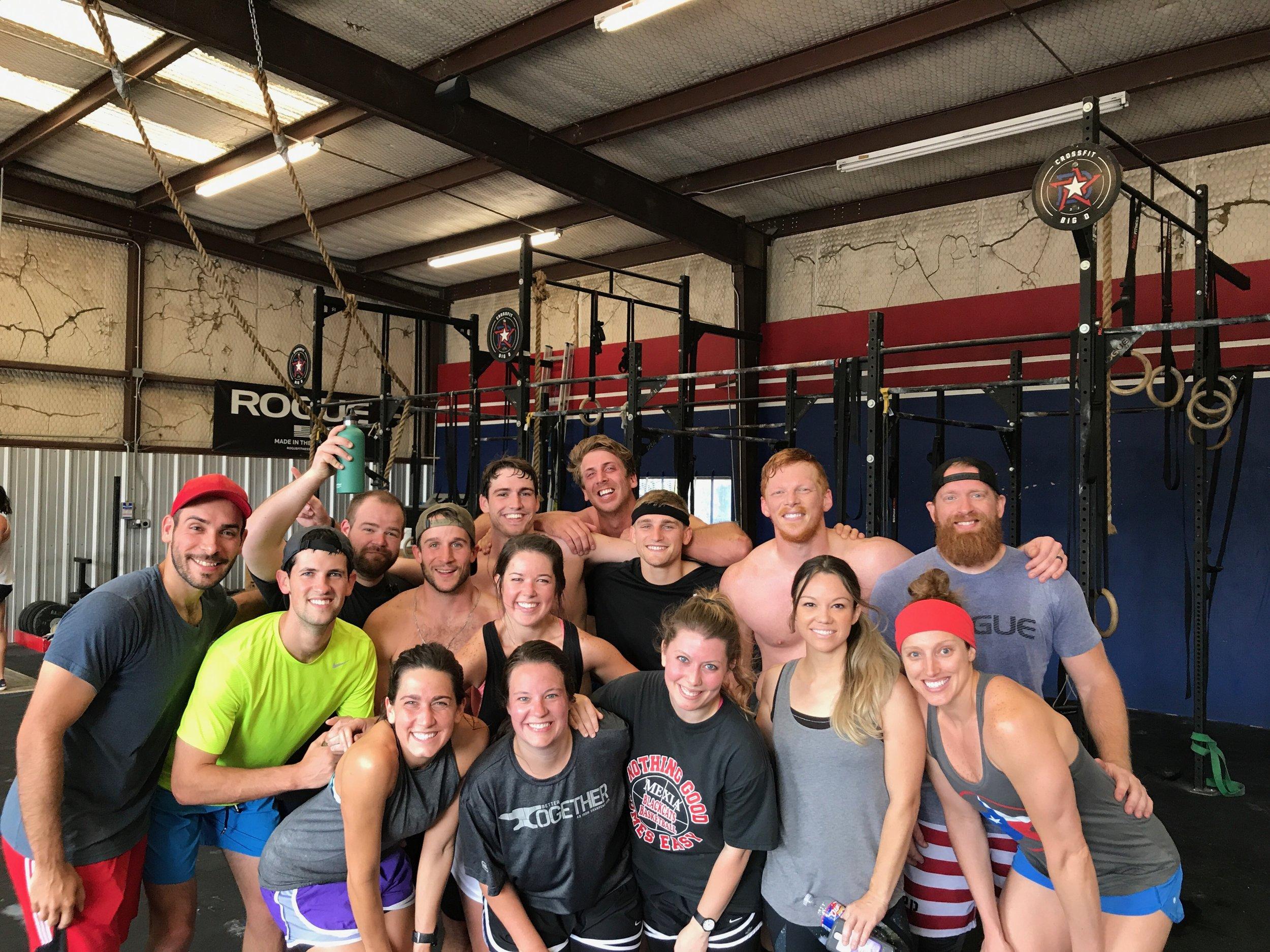 Memorial Day Murph Crew at Big D Crossfit