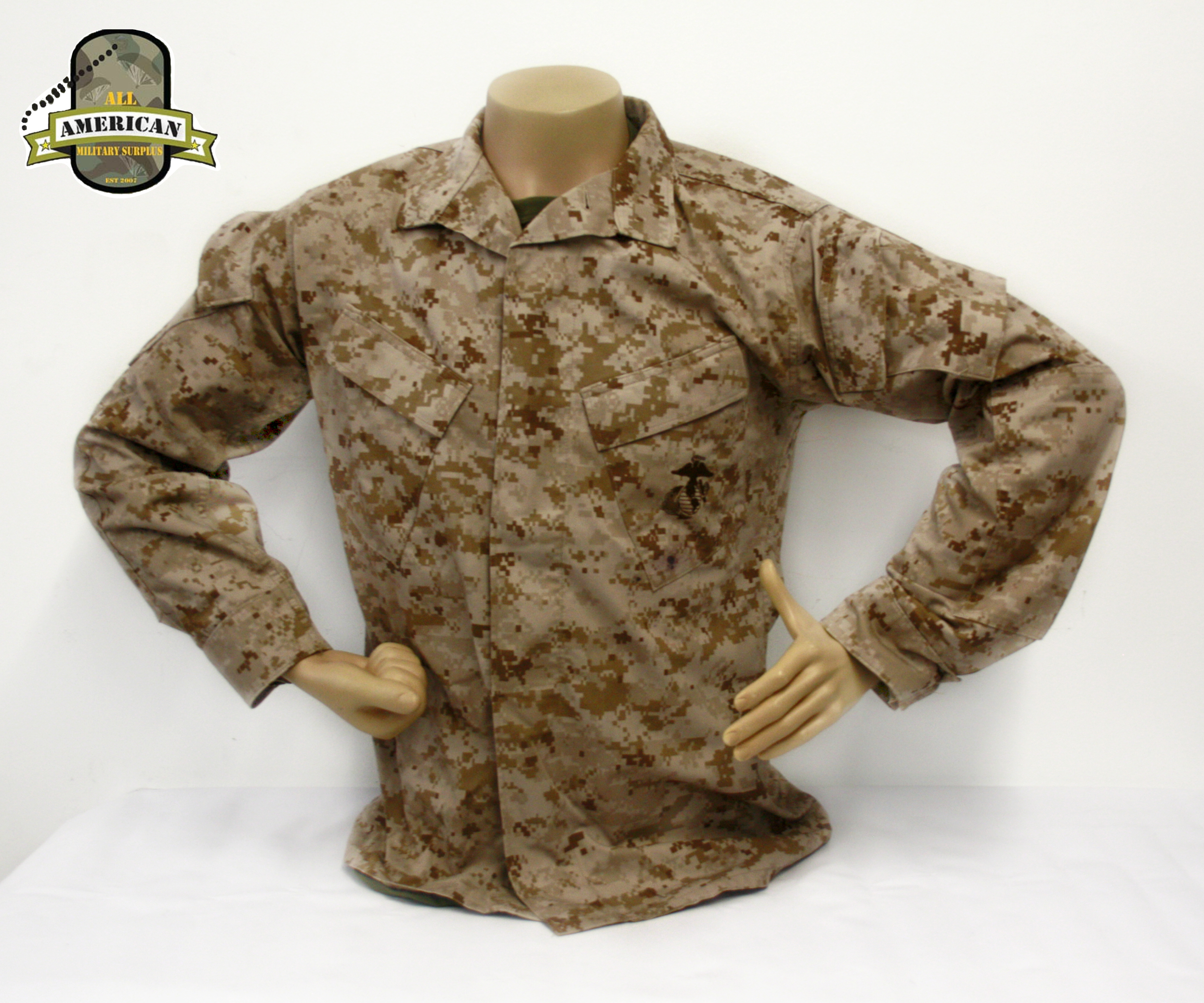 USMC Desert Marpat Uniform Jacket and Trousers — All American Military  Surplus