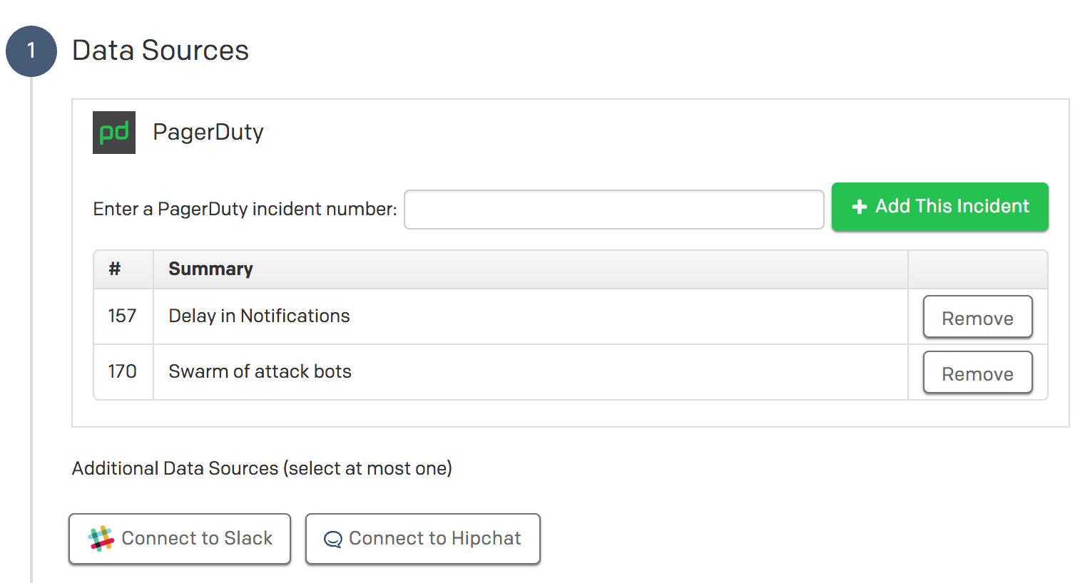 Pull individual chat messages directly into an incident timeline without having to copy/paste across tools