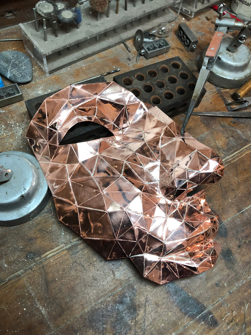 Initial copper face model