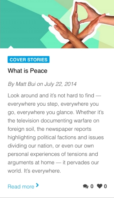 What Is Peace.  Inheritance Magazine  (Issue 26).