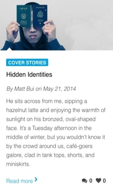 Hidden Identities. Inheritance Magazine (Issue 25).