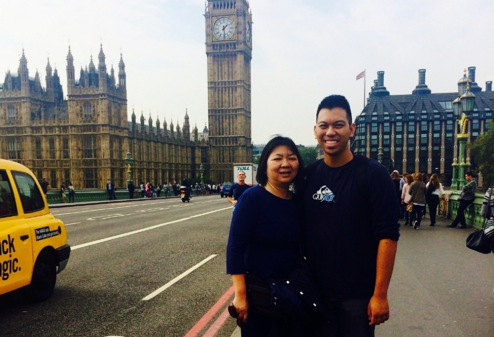 Touring London before I flew back to the US - Big Ben/the Elizabeth Tower, September 2014