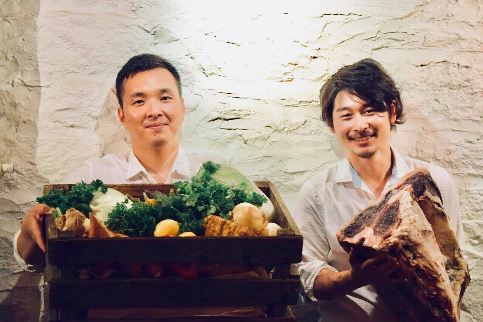 Guest Chef Hiroki Odo from the Michelin-starred  Kajitsu  with Salt + Charcoal's Chef Tadaaki Ishizaki