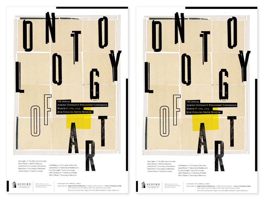 ONTOLOGY OF ART POSTER  Auburn University Department of Philosophy // design + collage