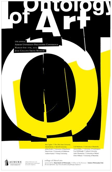 ONTOLOGY of ART POSTER / alternate  Auburn University Department of Philosophy // design + collage
