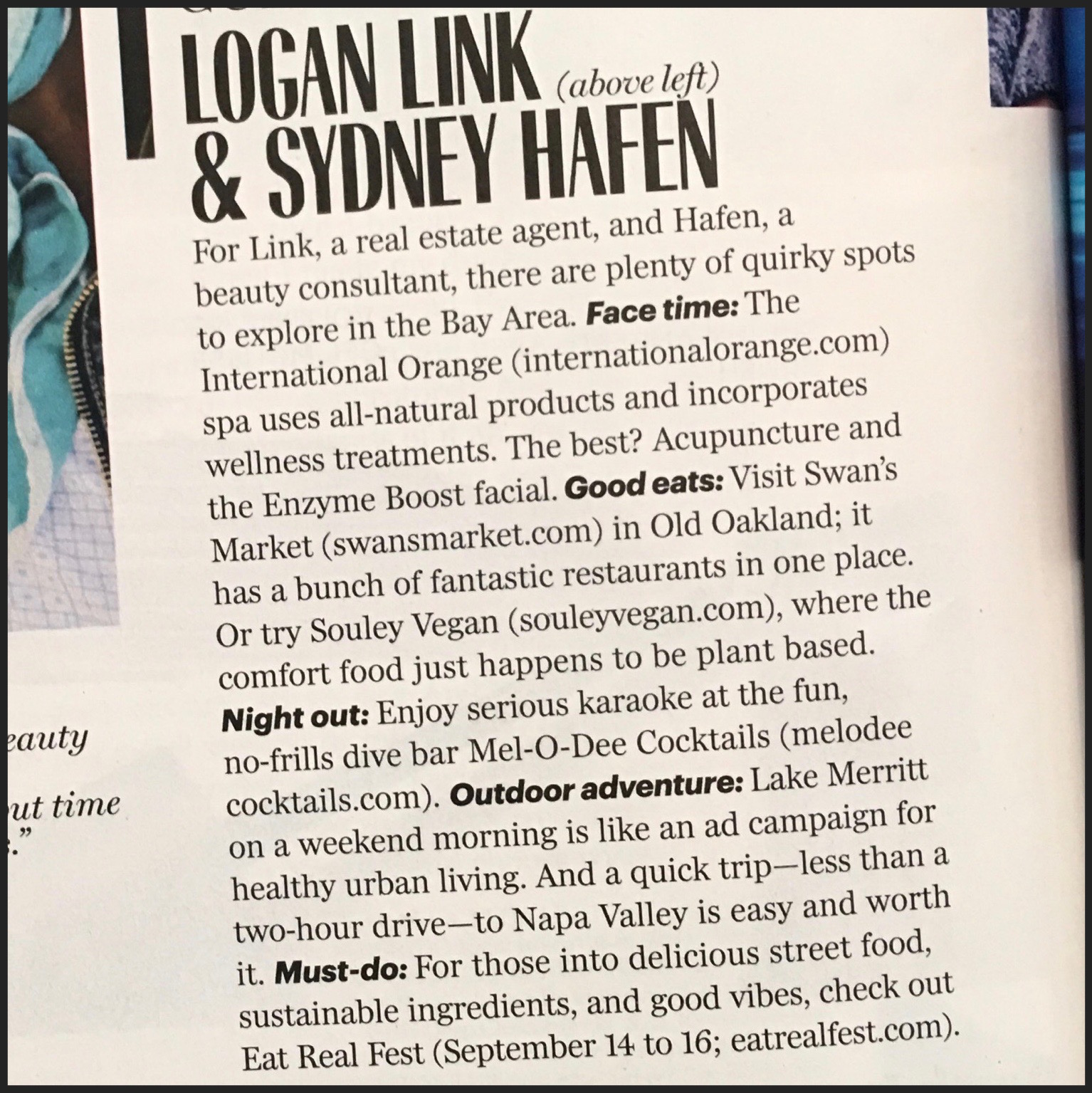 Logan in MARIE CLAIRE MAGAZINE Oct '18