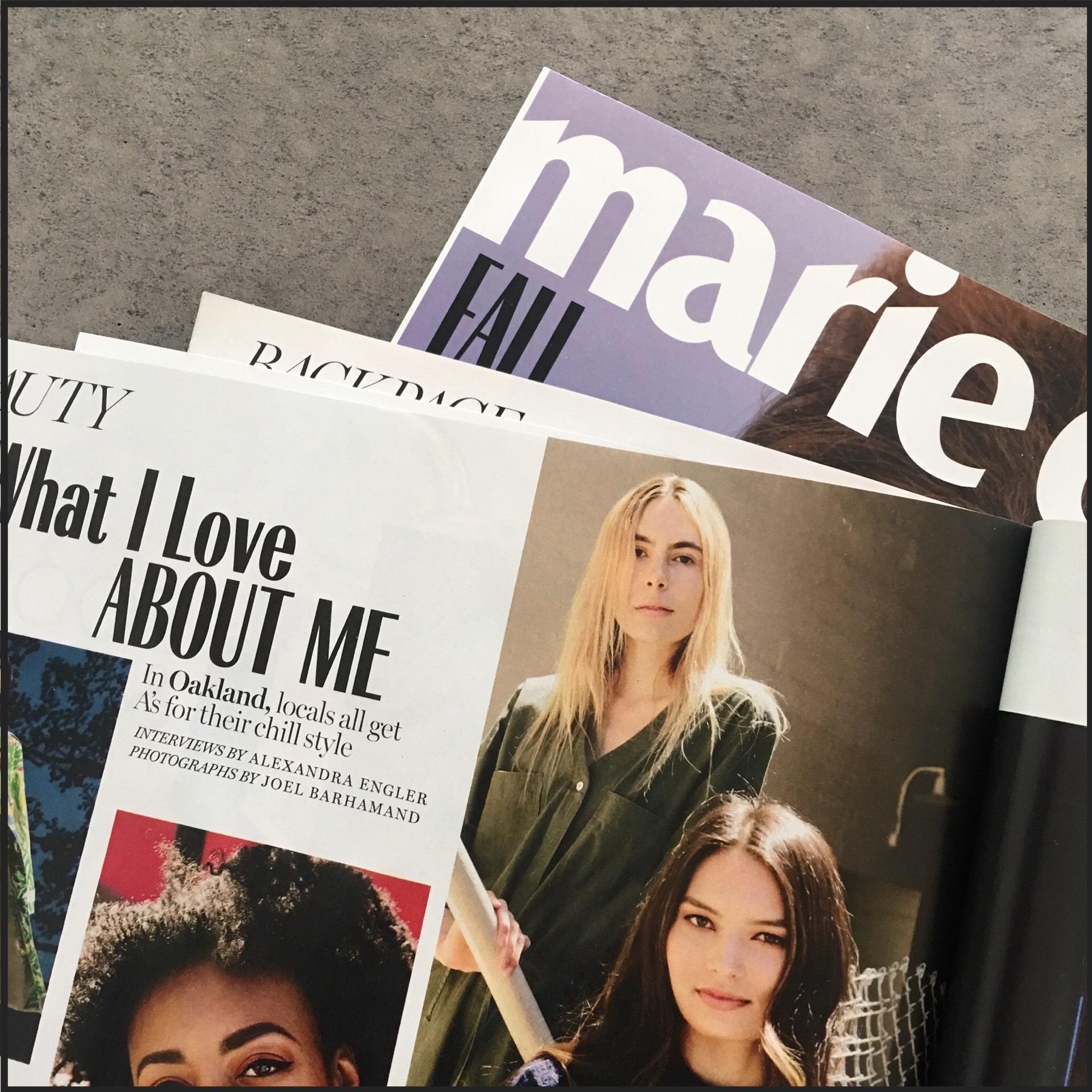 Logan in MARIE CLAIRE MAGAZINE Oct '18