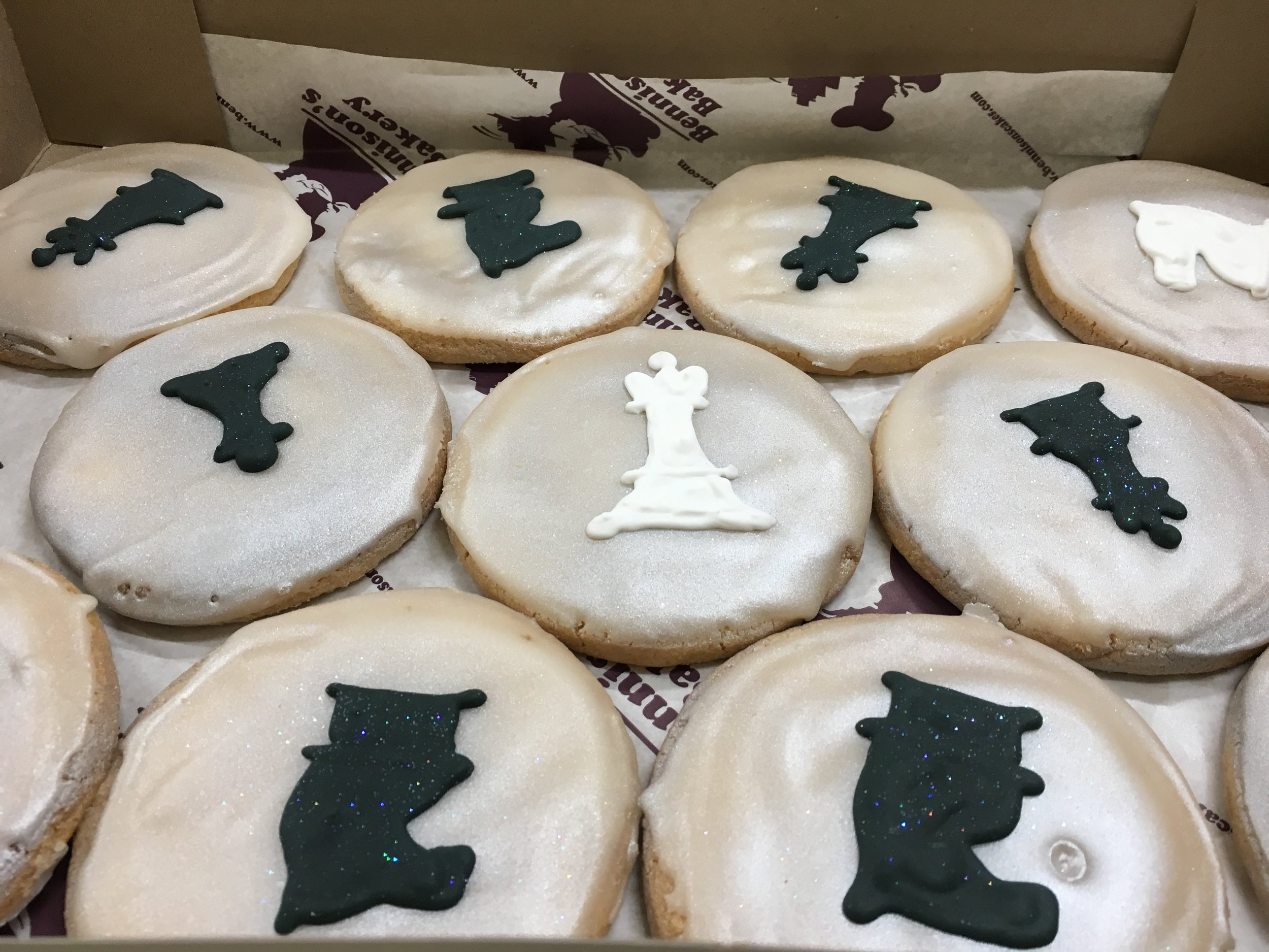 "Ani Emrikian's kitchen is being remodeled, so instead of enjoying her brownies, we had to ""settle"" for delicious chess cookies from Bennison's."