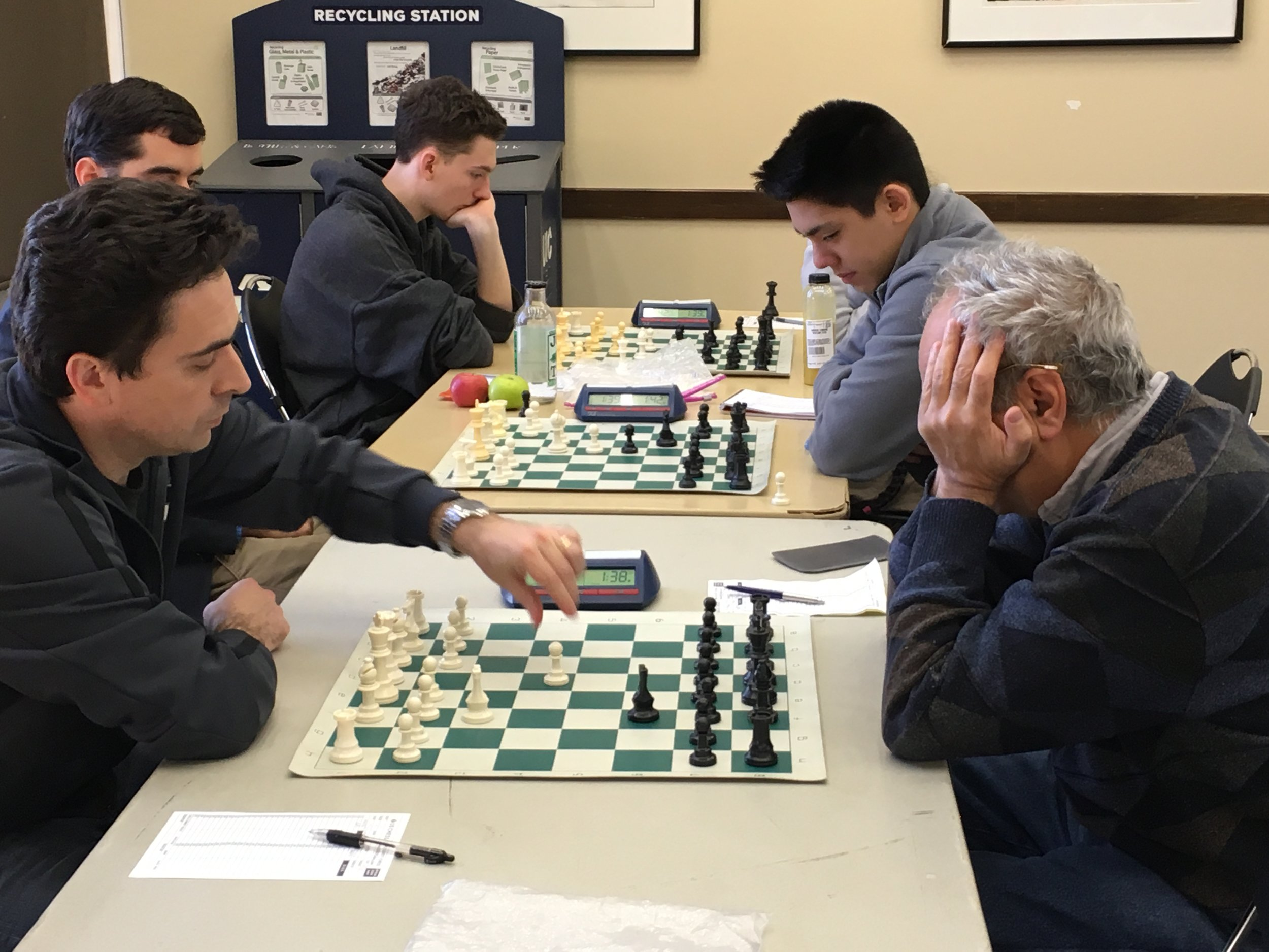 Back in Russia, Igor Tsyganov competed with his friends Svidler, Zvjaginsev, and Najer, all whom broke 2680. At the Class, he held Grandmaster Dmitry Gurevich to a draw.  Igor's daughter Margarita Tsyganova helped pay for her college education by tying for third in the Under 1500 section. In between soccer games, son Anthony played in both days' Rated Beginners' Opens