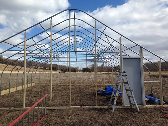 Almost done with the propagation greenhouse.. Hopefully putting the plastic on tues or wed, open to anyone who wants to come help!
