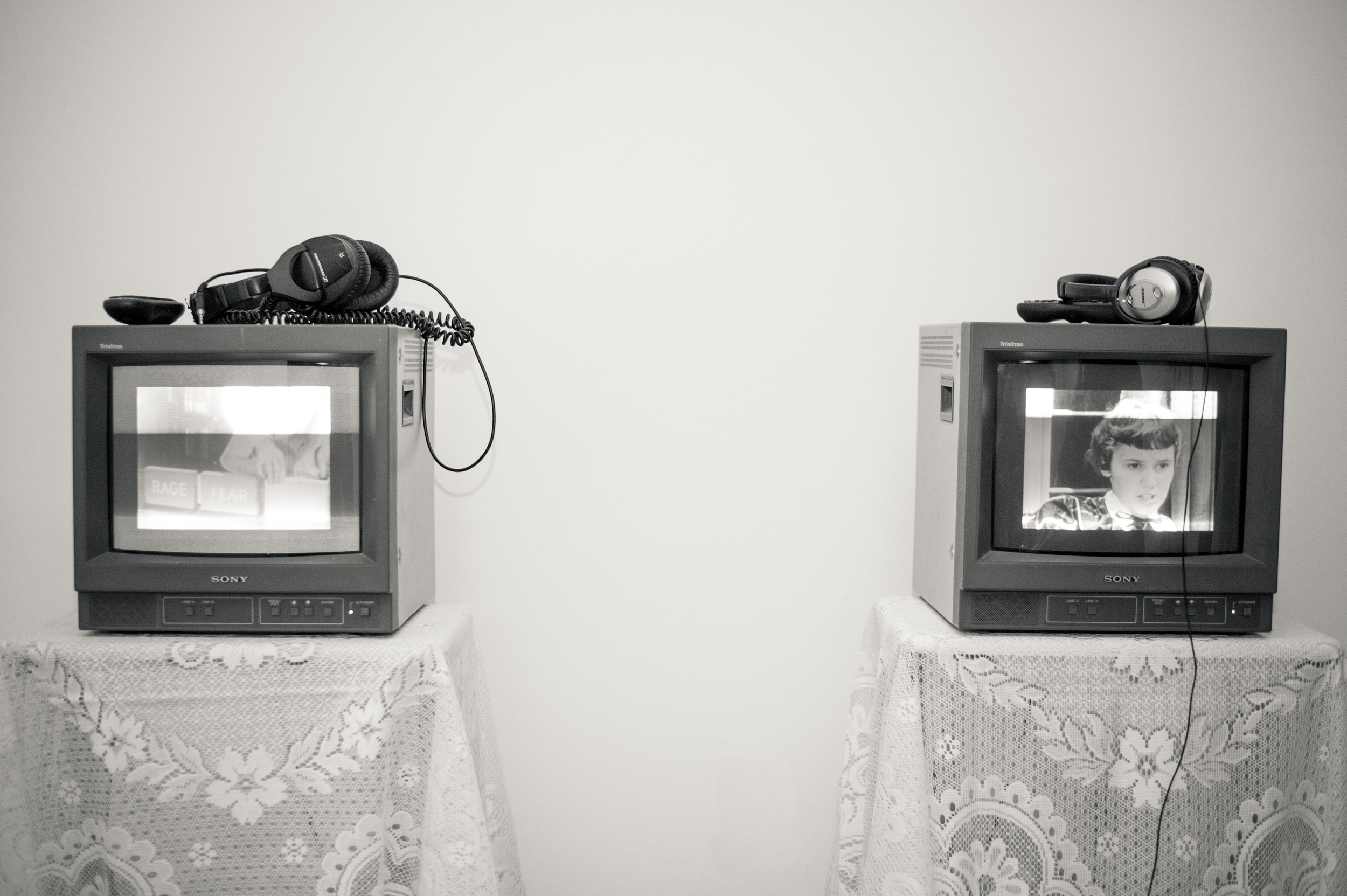 'Sweet Hello'  (left) and  'G  irl Talk'  (right) by Rachelle Walker  Photo courtesy of Evan Bergstra  See more images   here.