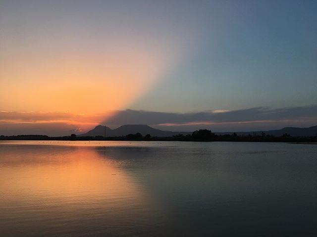 Set square sunset