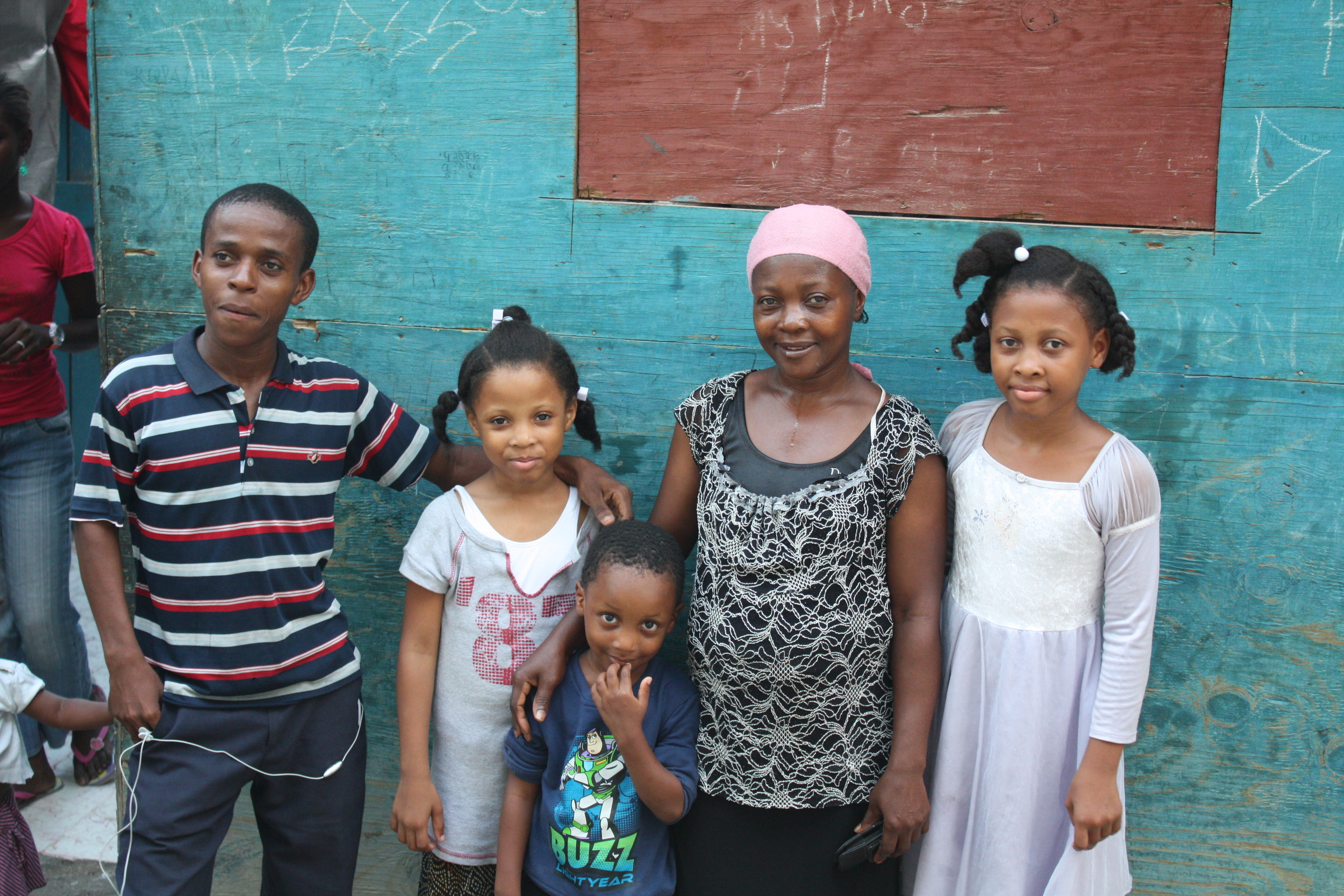 One of the many families that will benefit from the new center