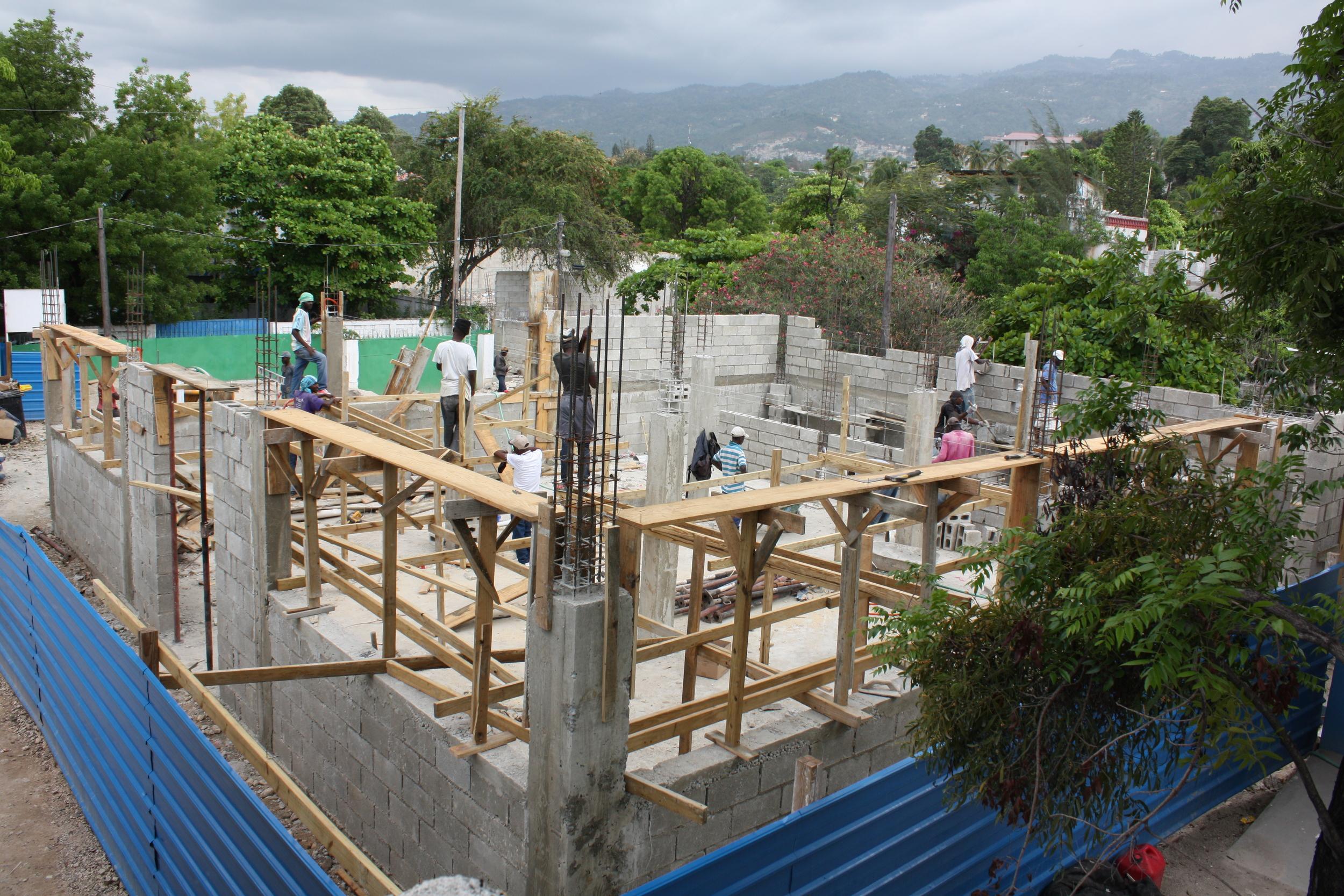 Construction begins!