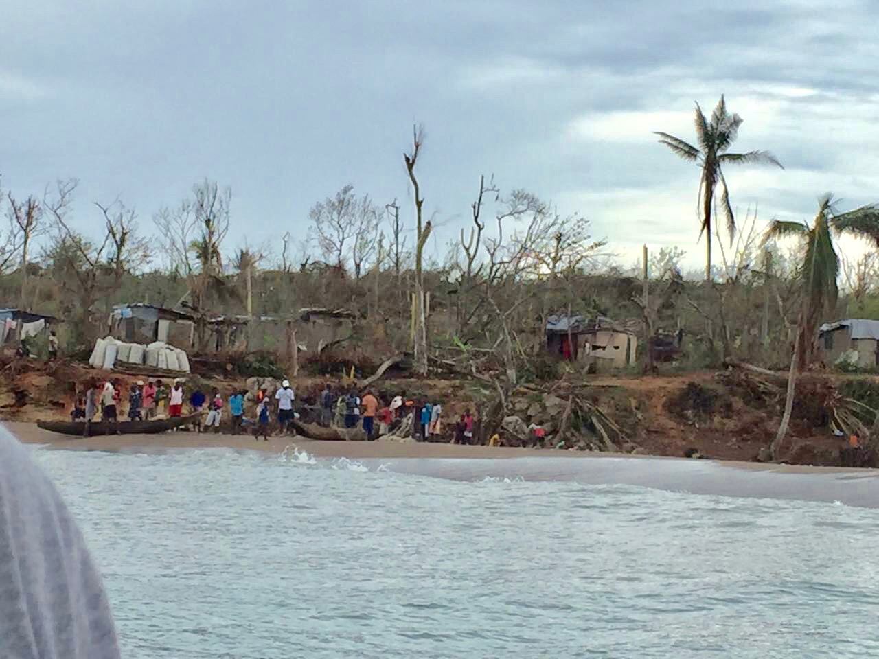 Certain areas are only accessible by boat and had not yet received any aid.
