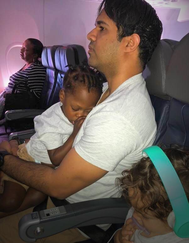 The flight home.