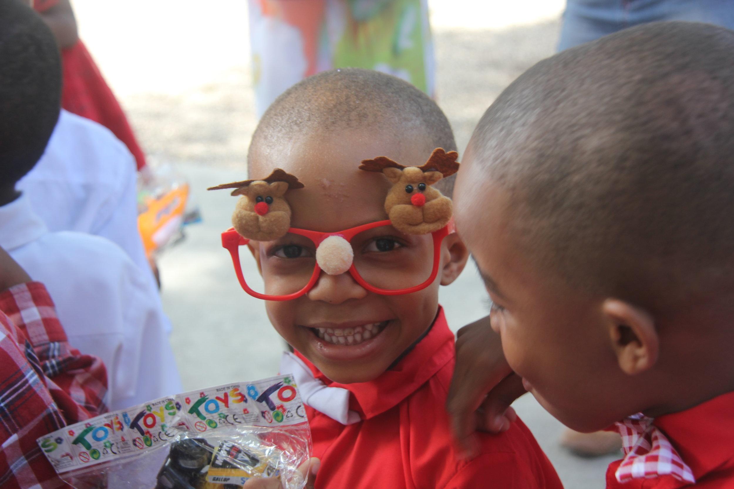 Boy w deer glasses 2 - 12-18-18 School Christmas Party (493).JPG