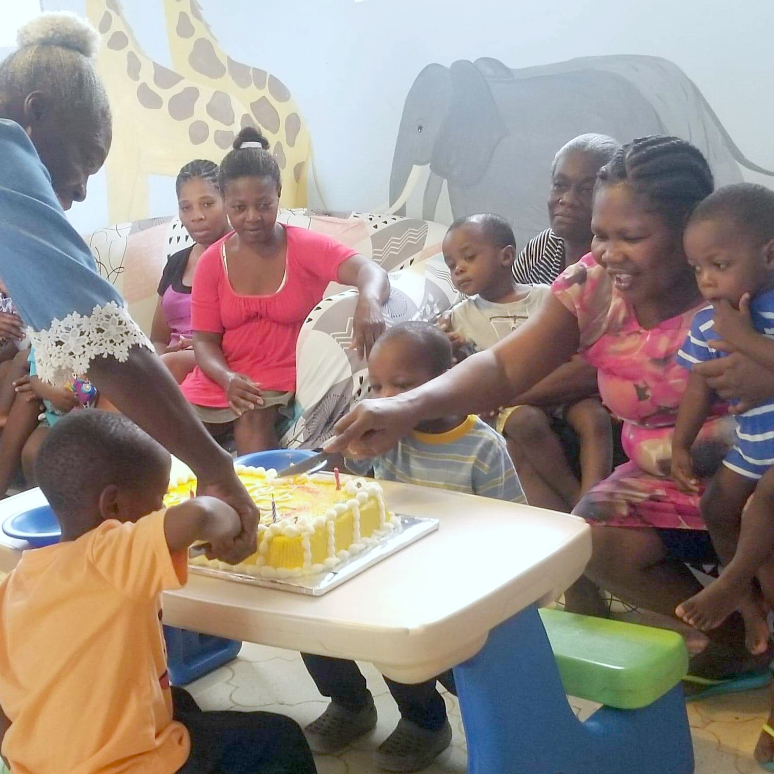 Celebrating birthdays at Angel House!