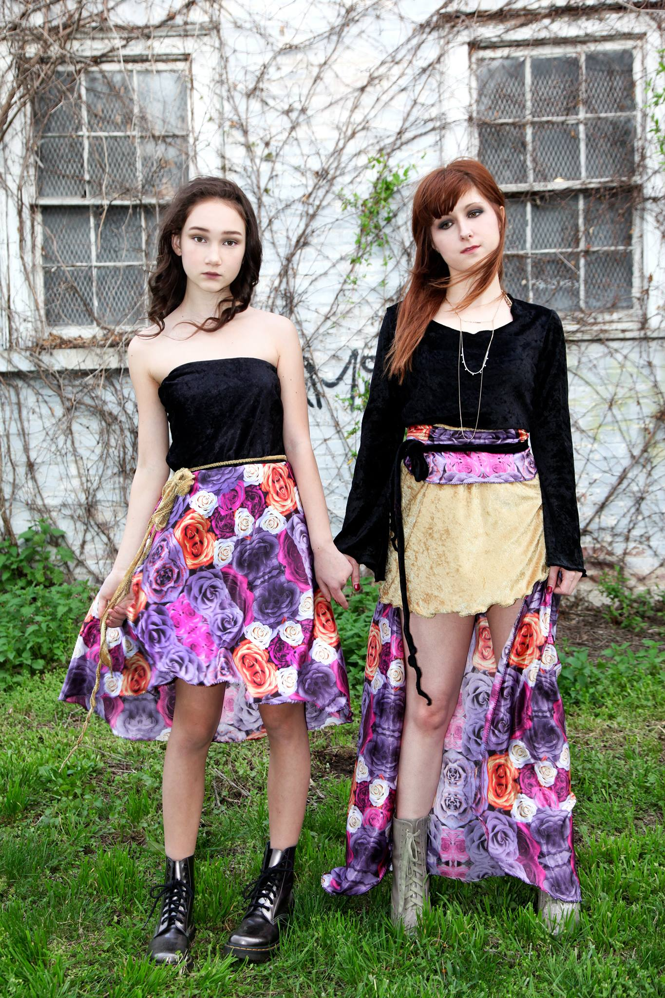 models Aislin Freya Pax , Victoria Rae  Stewart O'Shields