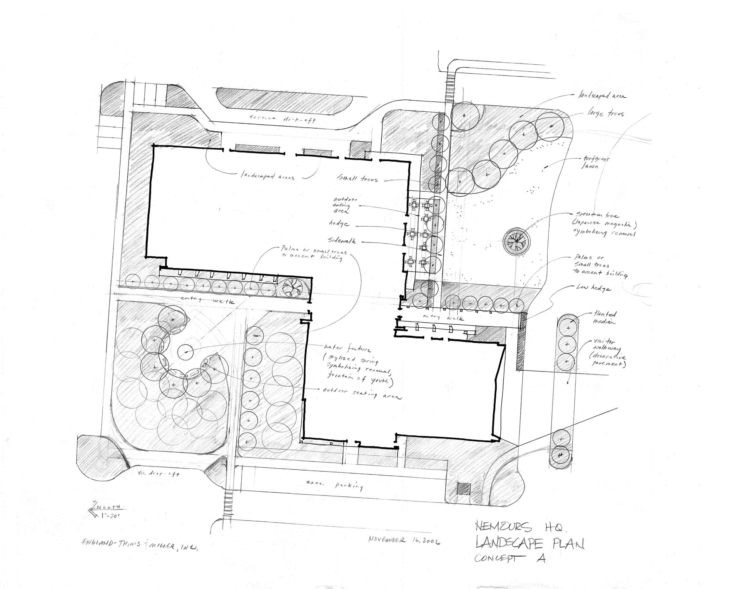 Nemours Headquarters Concept Plan