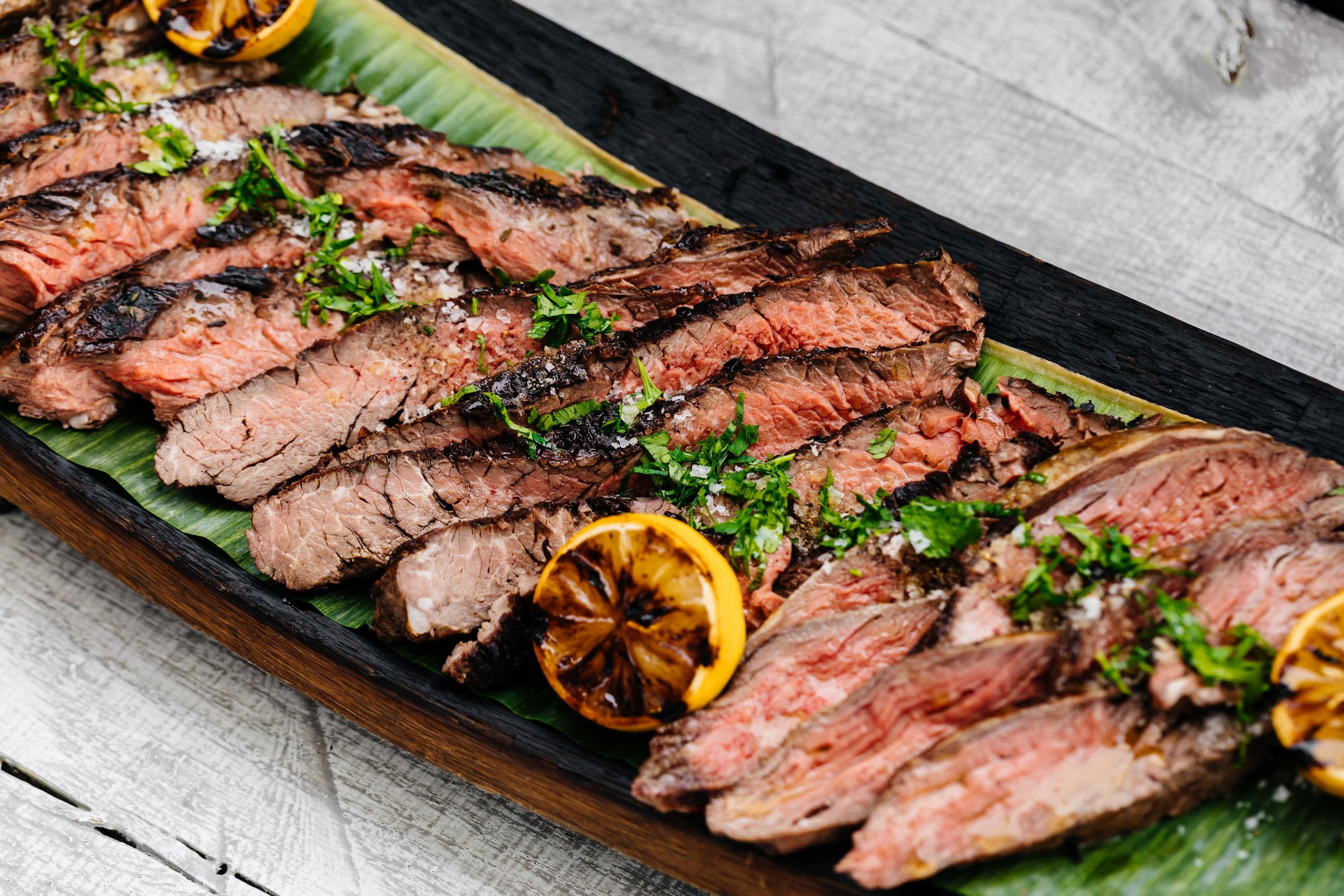 Grilled Steak Platters Starting at $195 (serves 12-15)