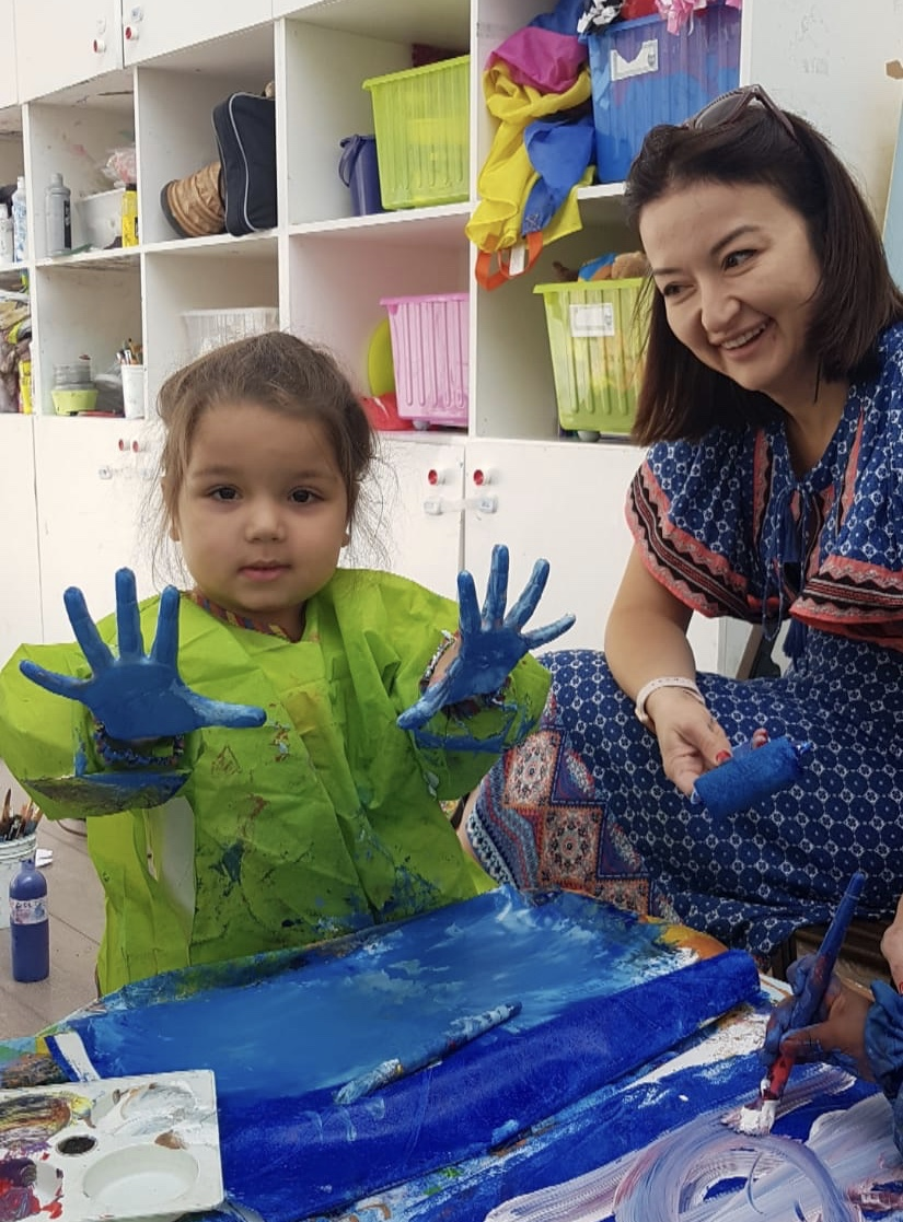Art and Artists for Toddlers - In this age group toddlers will be introduced to painting, with their parents' gentle assistance. They will start with experiencing paint mixing for the very first time and gradually understanding the process.The course emphasizes the creation of unique colours by the children starting from just the primary colours. They will also gradually gain fine motor skills and learn how to handle different types of brushes and pens. The learning process might be at times messy, as their natural curiosity towards colour mixing will be encouraged, so please bring along a change of clothes (the aprons we provide are sometimes difficult to put on by the little ones as they are still unfamiliar to them.Children will be guided in looking at age-appropriate, carefully chosen examples from the history of art, and in children's illustrated books in order to learn basic visual language skills, they will learn to recognise shapes and they will expand their vision of line, tone and colours. Their imagination will be stimulated, their vision enhanced and they will discover a great variety of painting styles in a fun and creative way. They will also sometimes create small toys, sculptures and puppets and try out basic printmaking techniques.OFFERED:Friday at 11:15.SIGN UP:You can trial the class for £12.90 click here.INSTRUCTOR: Ema