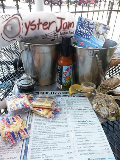 Cowgill's Hot Sauce at the Oyster Jam!