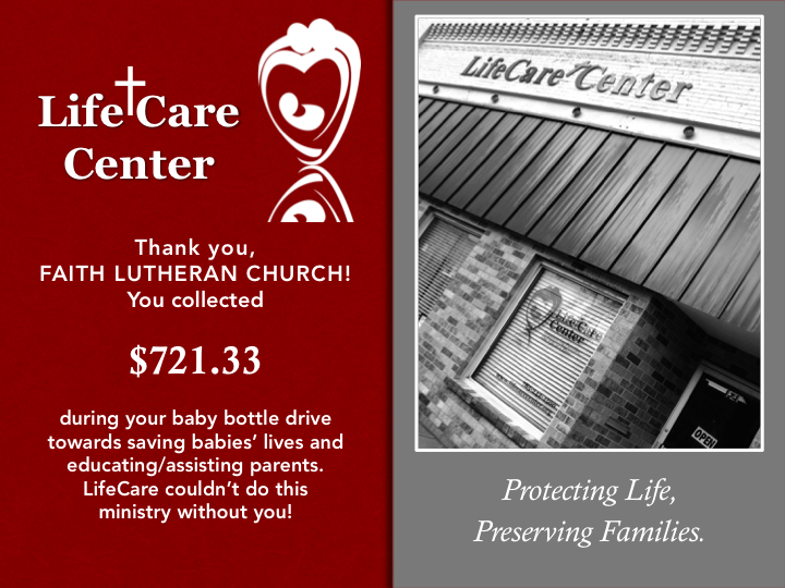 Change . . . Changes Lives! - A bottle drive is an easy way for your church, organization or group to help LifeCare in its mission to save babies' lives and educate parents. In 2016, we raised $13,000 in