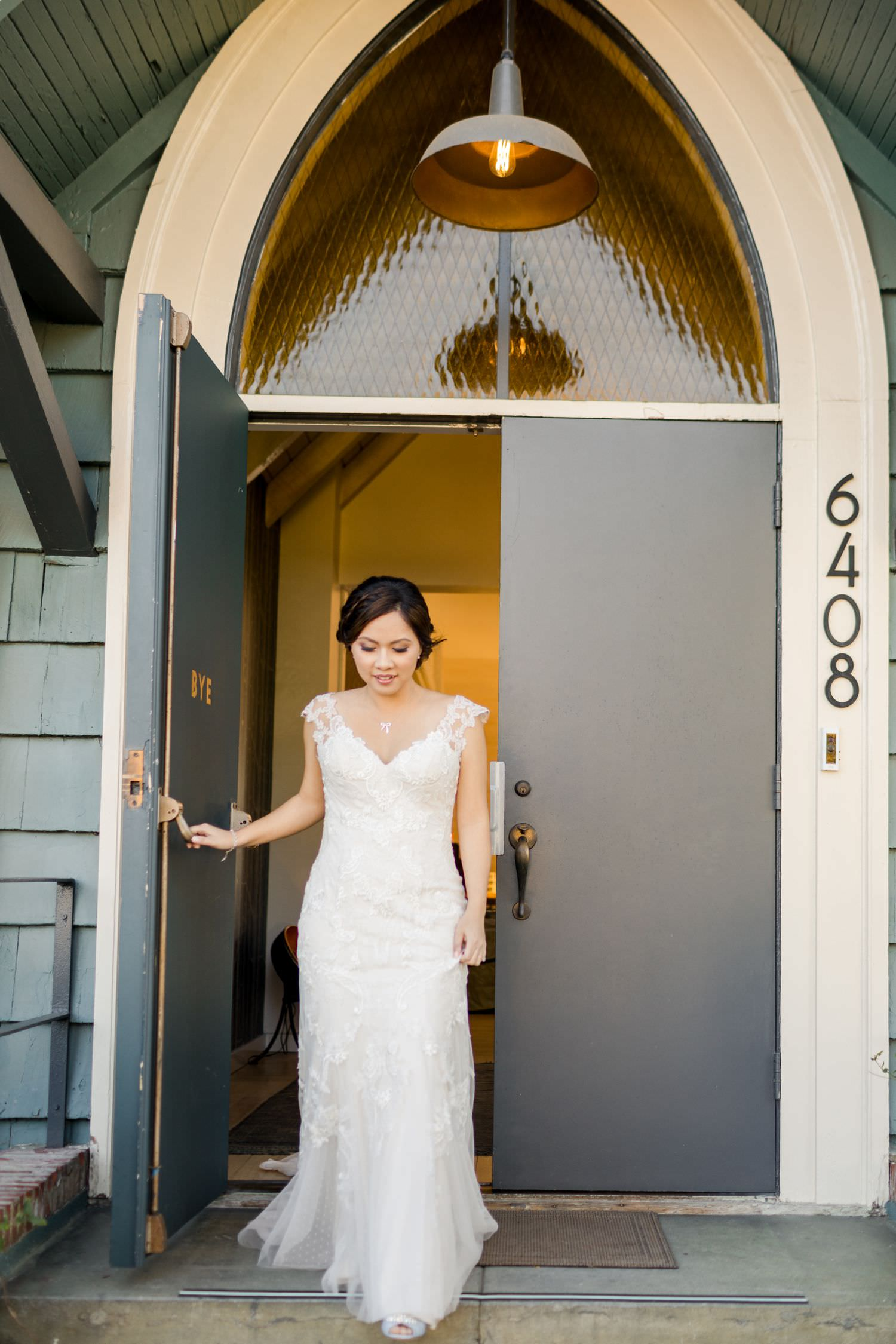 front door of the ruby street wedding venue los angeles