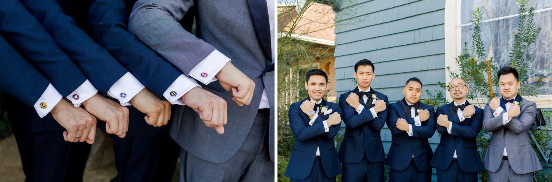 groomsmen superhero cufflinks