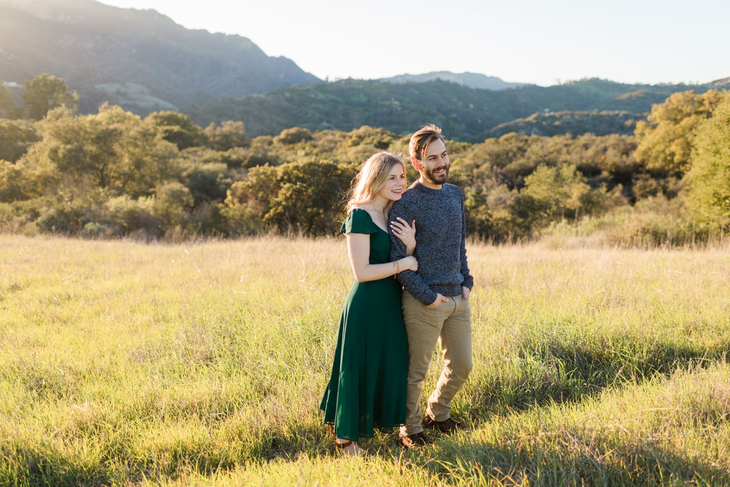 malibu hills sunset engagement photos