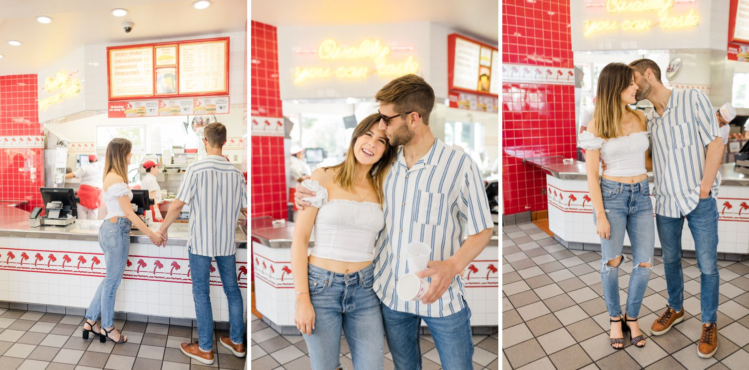in n out burger engagement photos