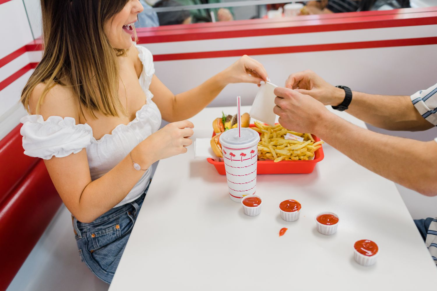in n out burger engagement session