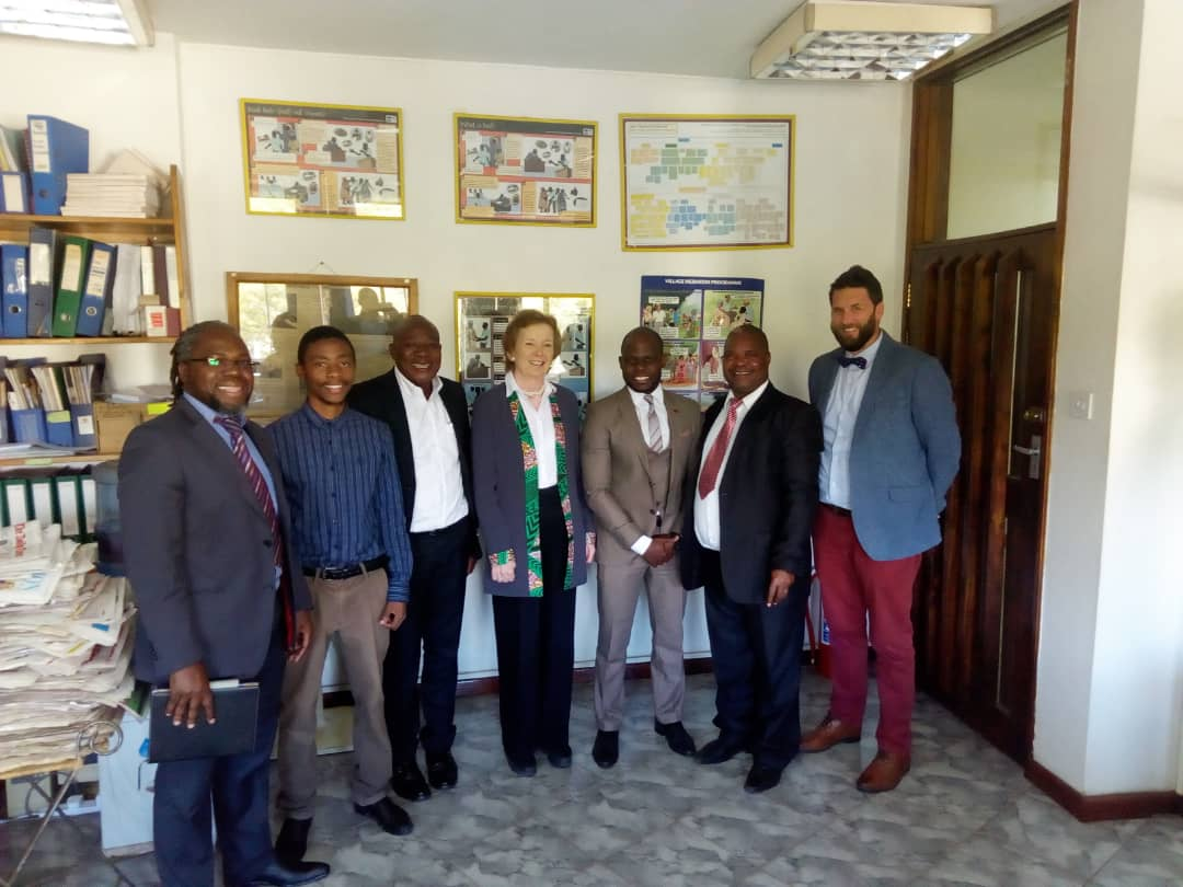 MARY ROBINSON, the 7th President of Ireland and former UN High Commissioner for Human Rights visited the PASI office in Lilongwe on 14 June 2018 to meet with PASI Director Clifford Msiska. She spent an hour and a half discussing how PASI paralegals assist those caught on the front-line of the criminal justice system and train/supervise village mediators under the Village Mediation Programme.