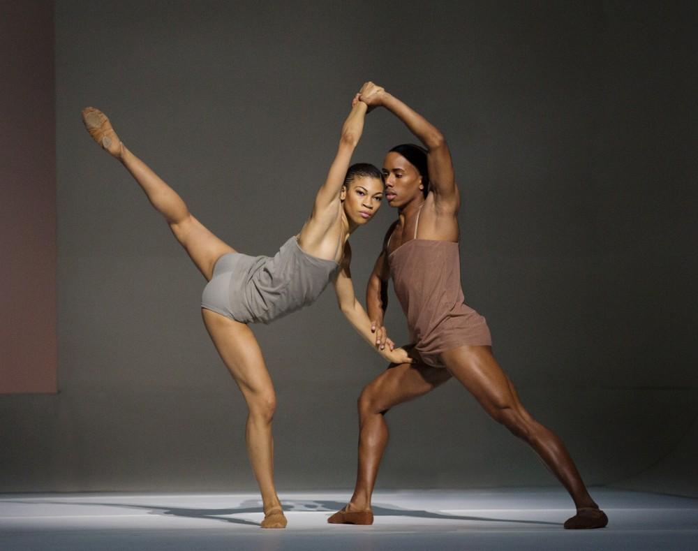 Alvin ailey dancers, Ghrai DeVore and Daniel Harder in wayne mcgregor's 'chroma'  photo -Paul Kolnik