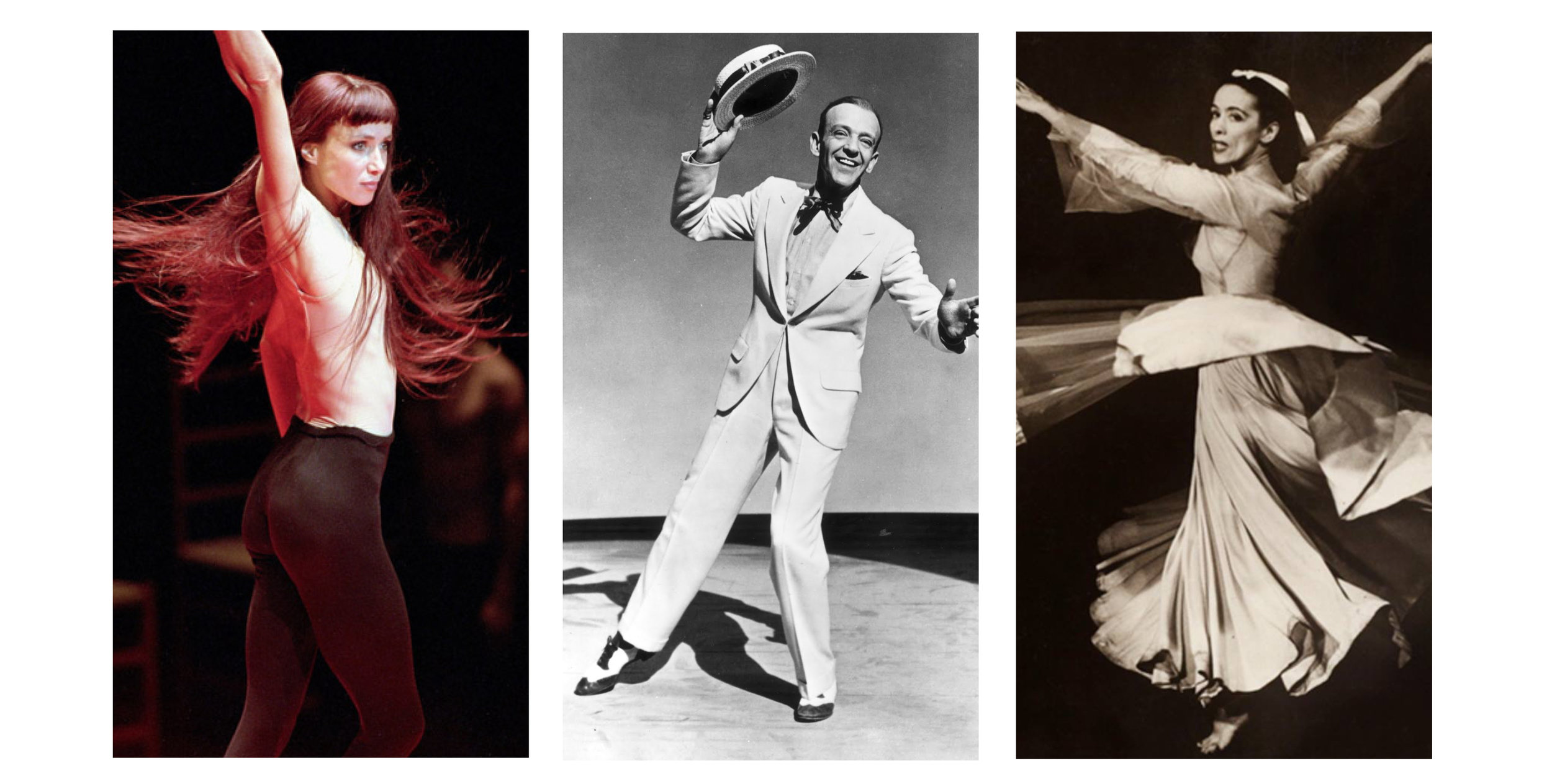 dance icons; sylvie guillem, fred astaire, martha graham