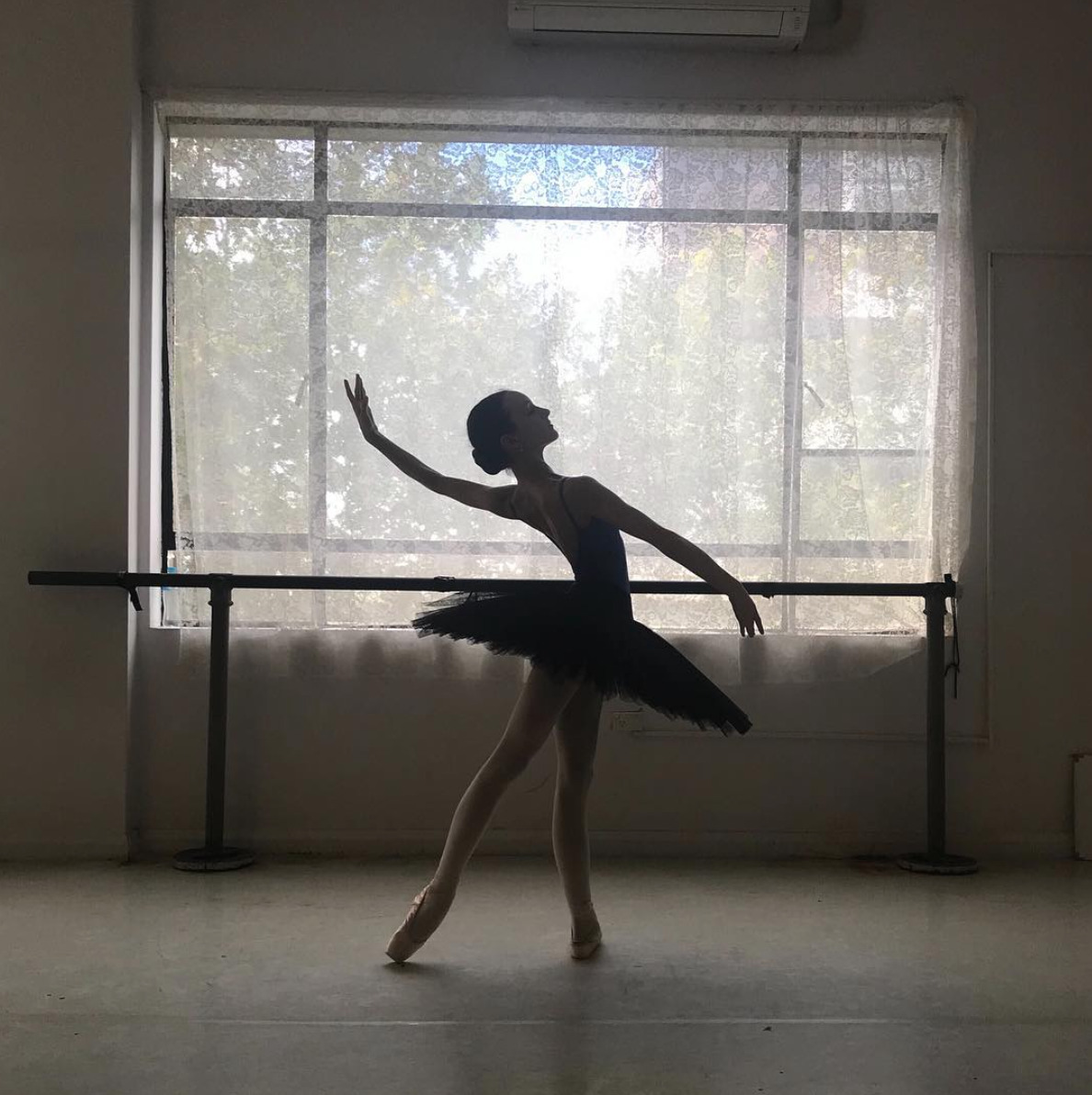 ruby practicing in the studios at Tpa.